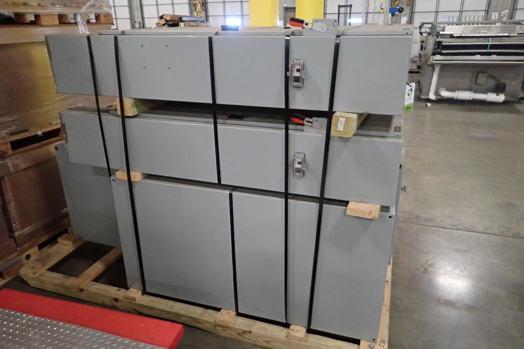 Lot 1006 - (4) mild steel control panels (LOT). **Rigging Fee: $50** (Located in 3703 - Eagan, MN.)