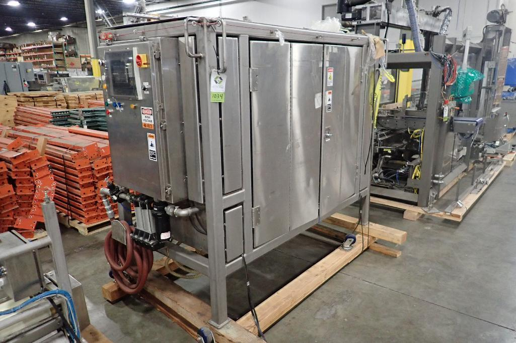 Lot 1034 - Single drum rotary moulder, 22 in. dia x 48 in. wide, SS frame. **Rigging Fee: $100** (Located in 37