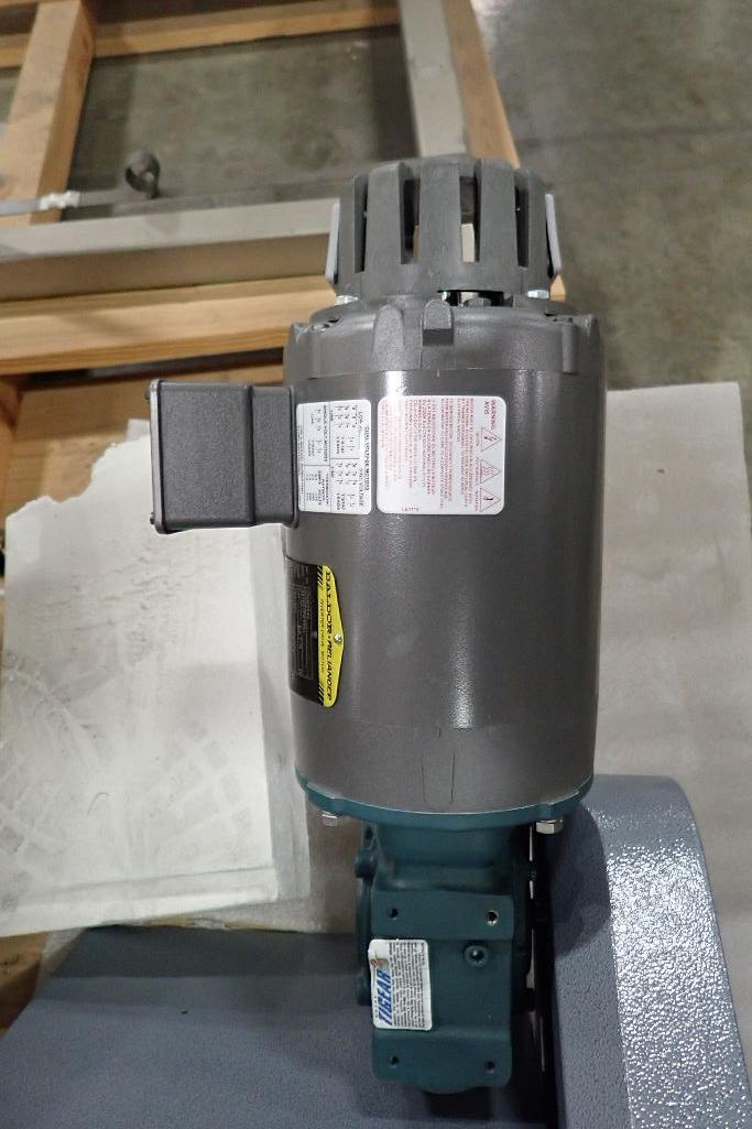 Lot 1052 - New auger feeder, SS auger 6 in. dia, 7 in. x 7 in. infeed, motor and drive. **Rigging Fee: $50** (L