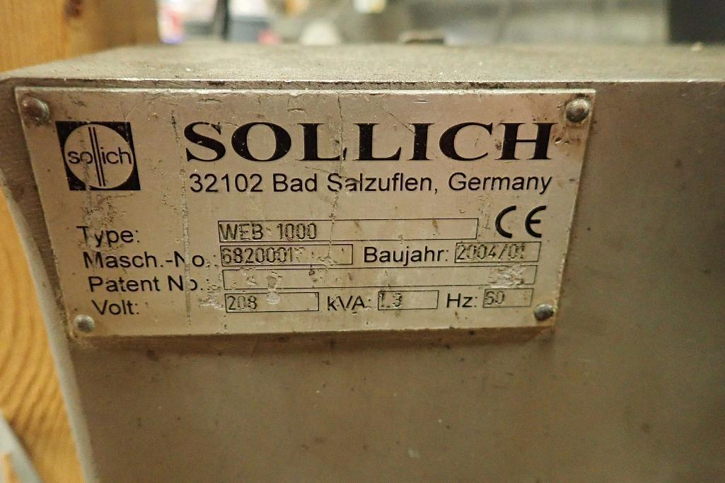 Lot 1020 - 2004 Sollich slabbing roller, 26 in. dia x 1 meter wide bottom roll, 17 in. dia x 33.75 in. wide top
