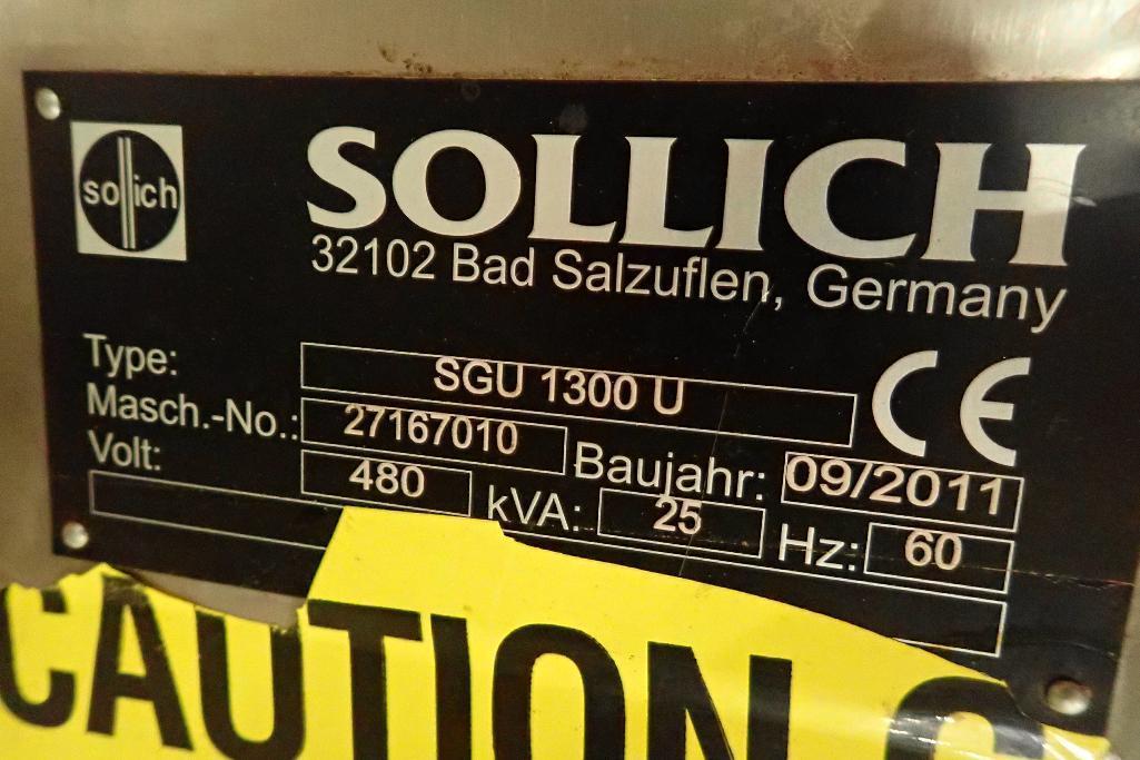 Lot 1028 - 2011 Sollich control panel, Type SGU1300U, Machine No 271610, 70 in. wide x 24 in. deep x 84 in. tal