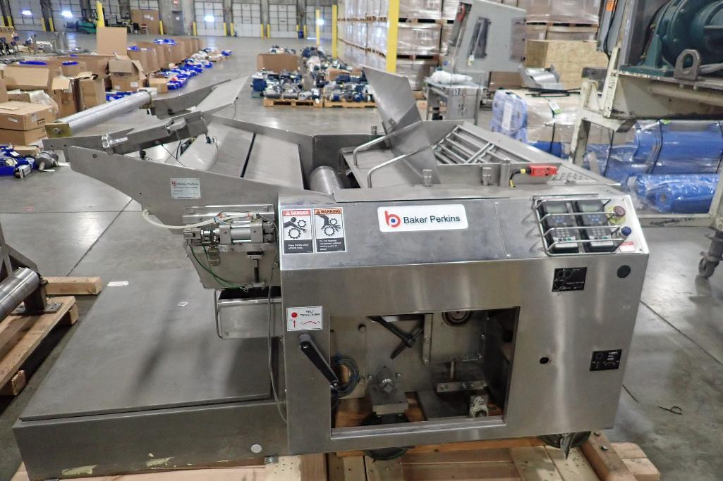 Lot 1024 - Baker Perkins EM390 rotary moulder, SN 0140-39-1-JC07017, 40.5 in. wide, has compression roller, no