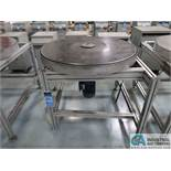 """40"""" DIA. STEEL TURNTABLE WITH ALUMINUM FRAME *$25.00 RIGGING FEE DUE TO INDUSTRIAL SERVICES AND SAL"""