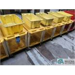 """18"""" X 24"""" X 24"""" HIGH THE TUFFY YELLOW UTILTIY CARTS WITH MOUNTED TOTE"""