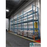 """SECTIONS 48"""" X 92"""" X 16' HIGH TEAR DROP ADJUSTABLE BEAM PALLET RACK WITH WIRE DECKINGS, (6)"""