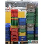 SKID 40 APPROX. MISC. SIZE PLASTIC PARTS TRAYS