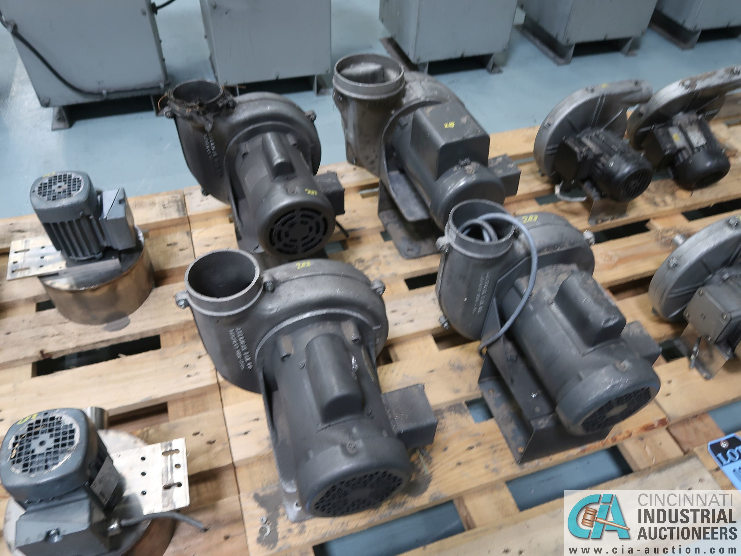 0.5 HP BLOWER MOTORS *$25.00 RIGGING FEE DUE TO INDUSTRIAL SERVICES AND SALES*