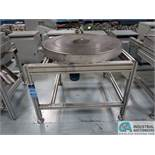 """40"""" DIA. STEEL TURNTABLE WITH ALUMINUM FRAME *$25.00 RIGGING FEE DUE TO INDUSTRIAL SERVICES AND SA"""