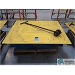 "50"" X 54"" PLATFORM X 3000 LB CAP BISHAMON MODEL E2-30 ROTATING SCISSOR LIFT TABLE *$25.00 RIGGING"