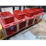 """18"""" X 24"""" X 24"""" HIGH THE TUFFY RED UTILITY CARTS WITH MOUNTED TOTE"""