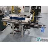 "10"" JET MODEL JWTS-10 CONTRACTORS TILT BLADE TABLE SAW; S/N 90300158 *$25.00 RIGGING FEE"