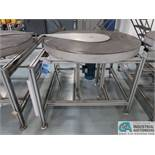 """50"""" DIA. STEEL TURNTABLE WITH ALUMINUM FRAME *$25.00 RIGGING FEE DUE TO INDUSTRIAL SERVICES AND SAL"""