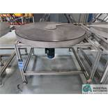 """50"""" DIA. STEEL TURNTABLE WITH ALUMINUM FRAME *$25.00 RIGGING FEE DUE TO INDUSTRIAL SERVICES AND"""