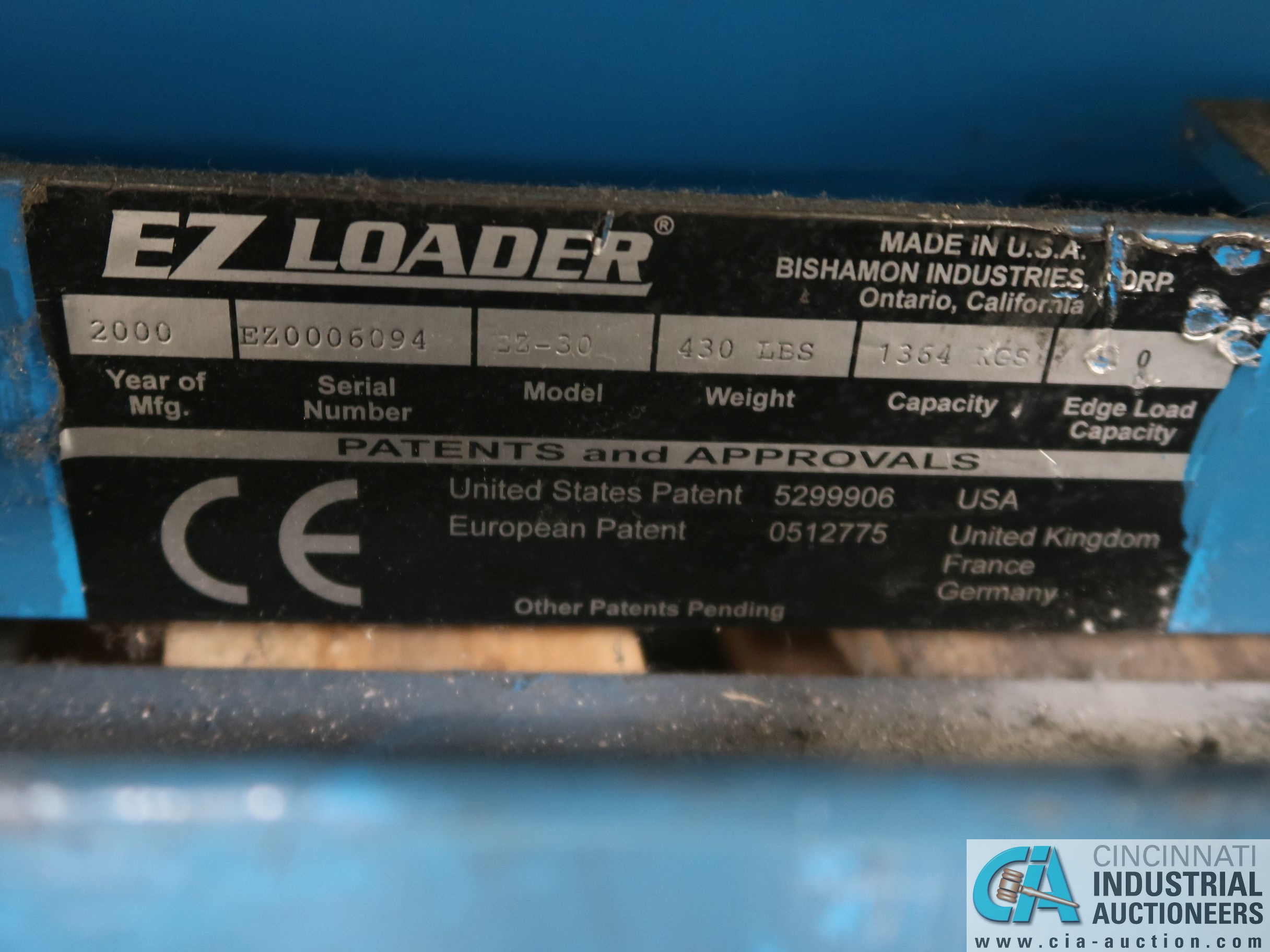 "50"" X 54"" PLATFORM X 3000 LB CAP BISHAMON MODEL E2-30 ROTATING SCISSOR LIFT TABLE *$25.00 RIGGING - Image 2 of 2"