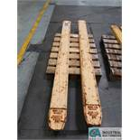 """SET 7"""" X 96"""" LONG VESTIL HEAVY DUTY FORK EXTENSIONS *$25.00 RIGGING FEE DUE TO INDUSTRIAL SERVICES"""