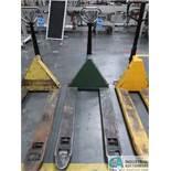 5,500 LB CAP MOORE MODEL ML55 MANUAL HYDRAULIC PALLET TRUCK
