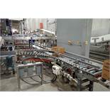 25 ft. power roller case conveyor