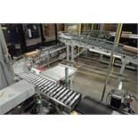 35 ft. long power roller case conveyor