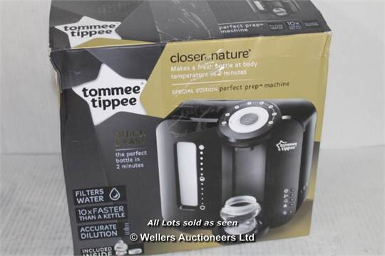 Strict Tommee Tippee Perfect Prep Black Feeding