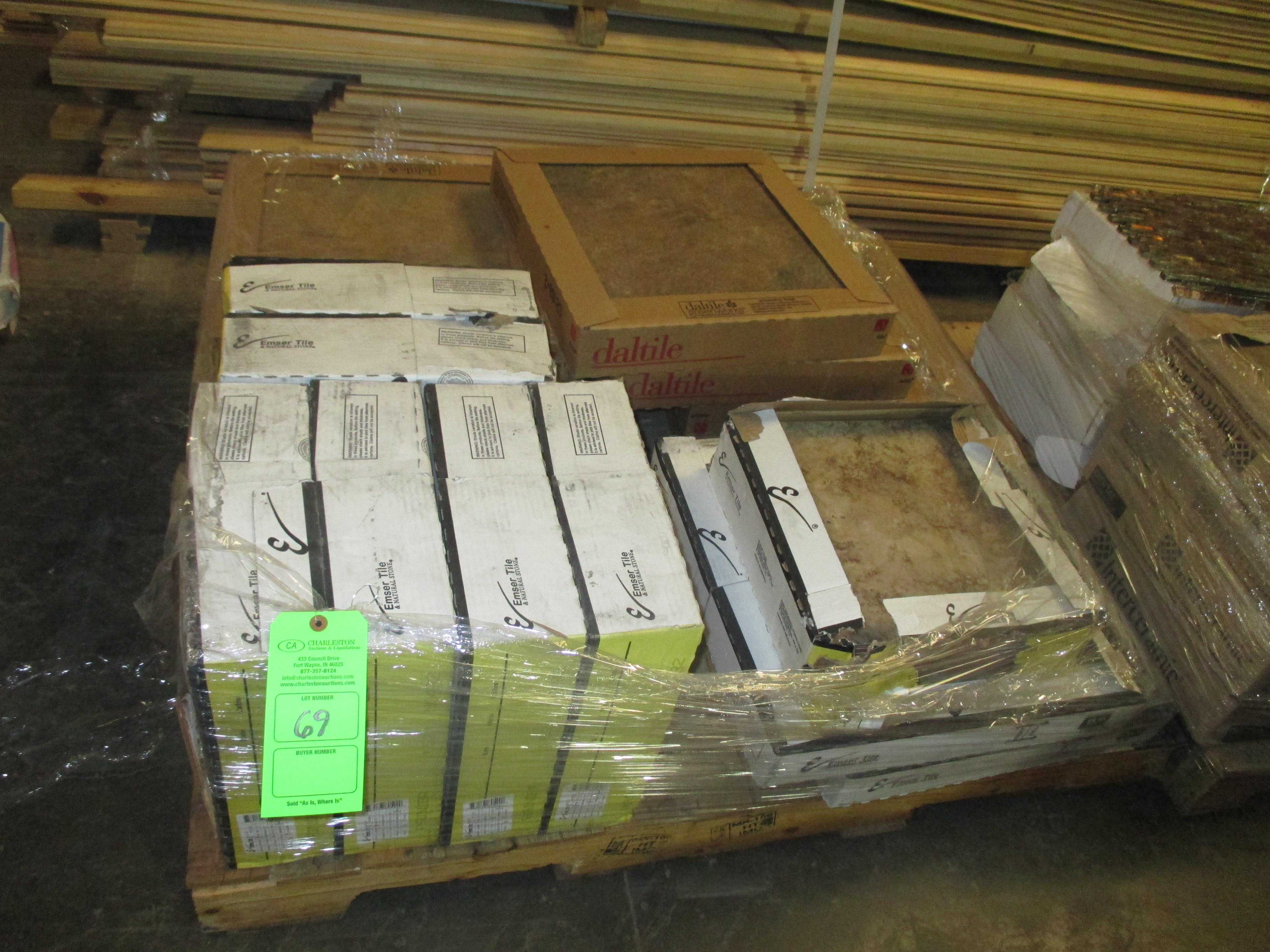 Pallet Of Various Tile Including Daltile 18 X 18 Terrain Marrone 7