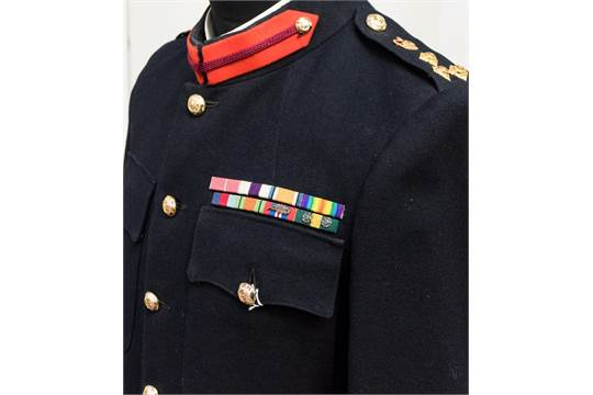 British Army No1 Dress Tunic and Trousers ex estate of