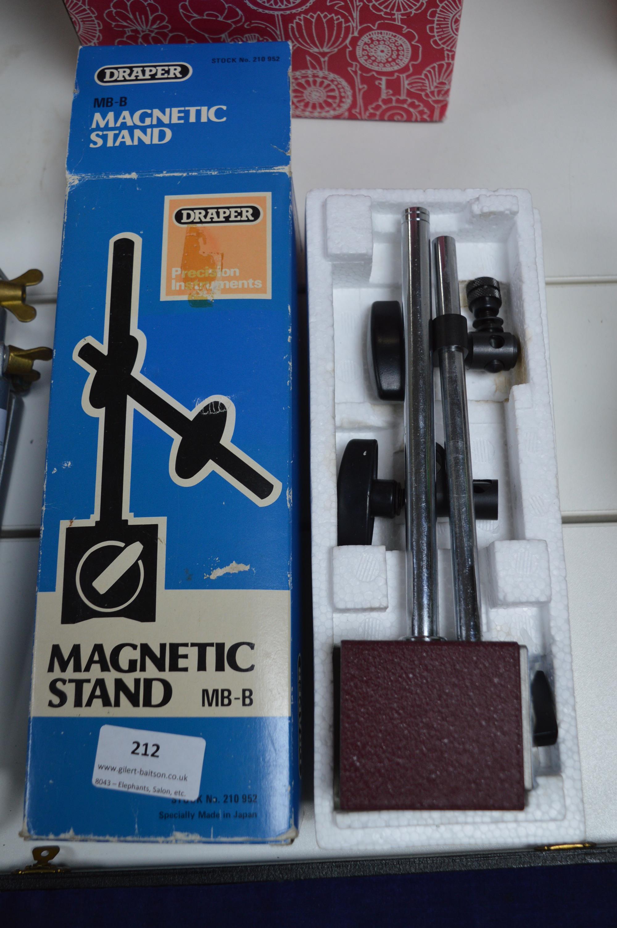 Lot 212 - Draper Magnetic Stand