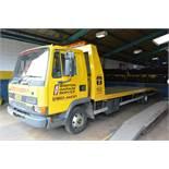 Leyland DAF 45 150 Euro II Ti beaver tail recovery truck, reg no: R908 FBU (1997), MOT: assume