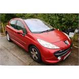 Peugeot 207, reg no: KM58 EXH, mileage: 78,957, MOT: t.b.c., panoramic roof (please note: spares
