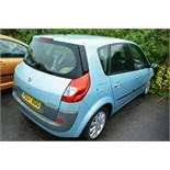 Renault Scenic 1.6 petrol 5 door MPV, reg no: PC07 EDU (2007), MOT: 22/09/2020, recorded mileage: