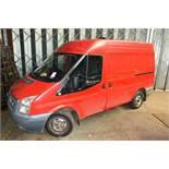 Ford Transit 85 T280 2.2 panel van, reg no: YP60 WDU (2010), MOT: 07/04/2020, recorded mileage: