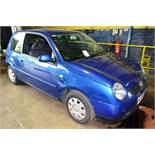VW Lupo 1.4 3 door hatchback, reg no: WD04 MXA (2004), MOT: 01/12/2020, recorded mileage: 80,975 (