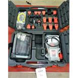 Autel Maxi Sys MS9085 Pro diagnostic touch screen tablet, associated connectors and carry case