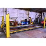 TI Bradbury 4 post commercial inspection ramp, serial no: 712 (1980), capacity 5000kg, 3 phase,
