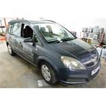 Vauxhall Zafira Life 5 door MPV, reg no: CN56 ZDH (2006), petrol, MOT: 29/10/2020 , recored mileage: