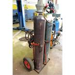 Gas welding cutting set with trolley (please note: bottles excluded)
