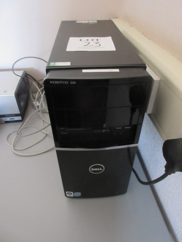 Lot 23 - Dell Vostro 220 mini tower PC incorporating Core 2 duo E8400 processor, 4GB Memory, 160GB Hard Drive