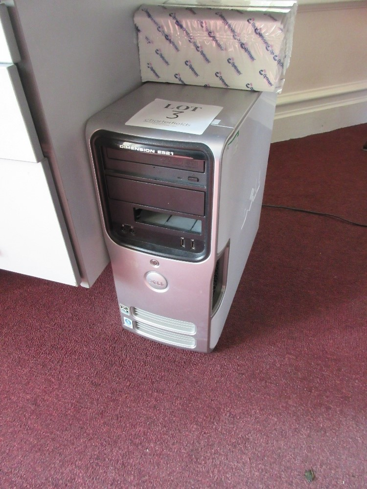Lot 3 - Dell Dimension E521 PC tower, AMD ATHLON, 4GB Memory, 320GB Hard Drive (all data and software erased