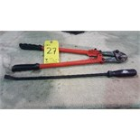 "24"" bolt cutters and pry bar"