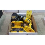 DeWalt heavyduty XRP cordless hammerdrill with battery+charger and bit set