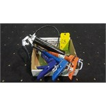 Lot (1) grease gun and (3) caulking guns