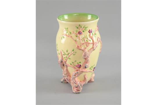Clarice Cliff Indian Tree Pattern Vase Shape No 990 Marks To Base