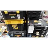 ASSORTED DEWALT & STANLEY TOOL BOXES