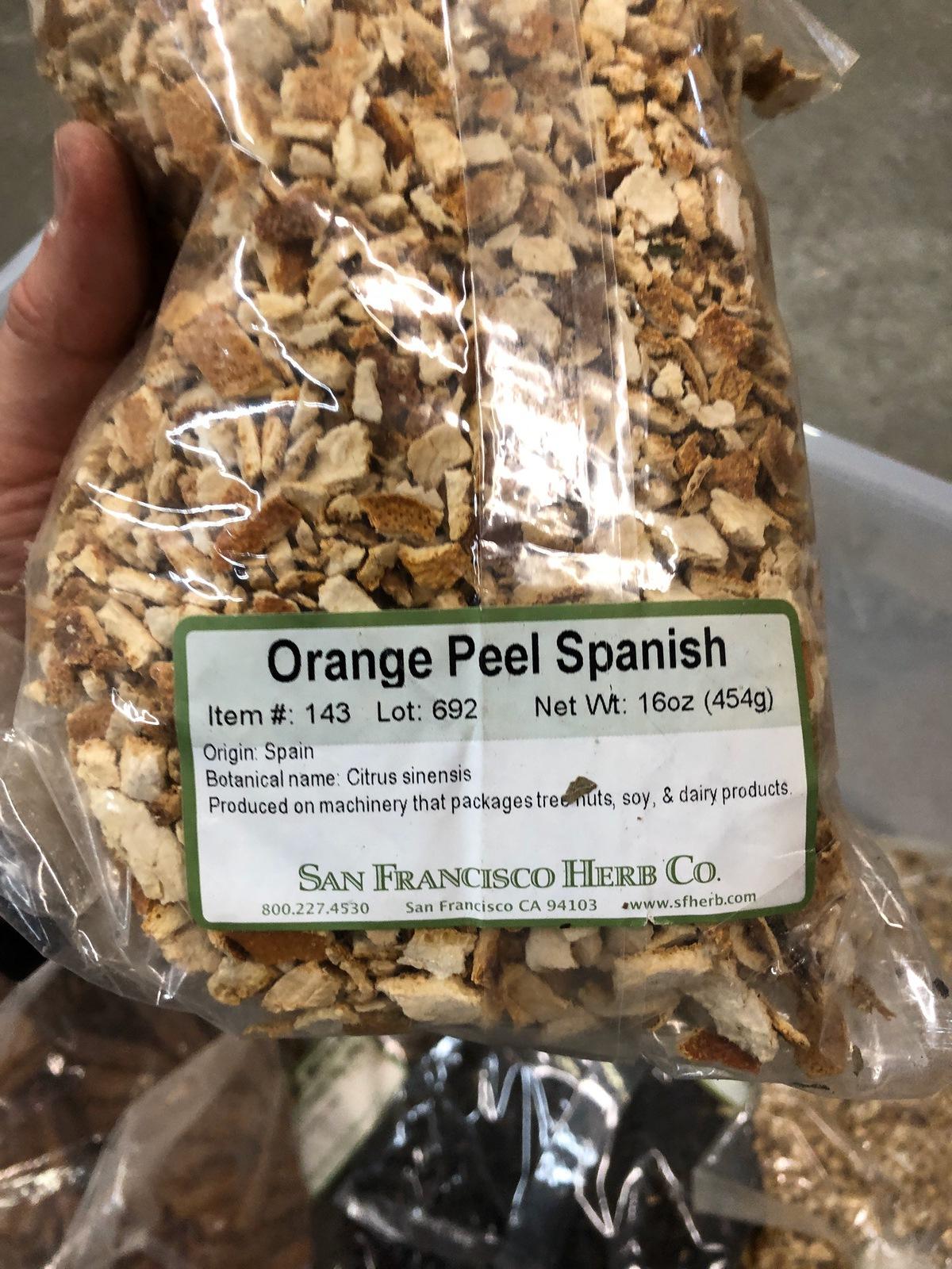 Lot of Herbs and Botanicals: Lemon Peel, Juniper Berries, Orange Peel, Orris Ro   Rig Fee: $20 or HC - Image 6 of 14
