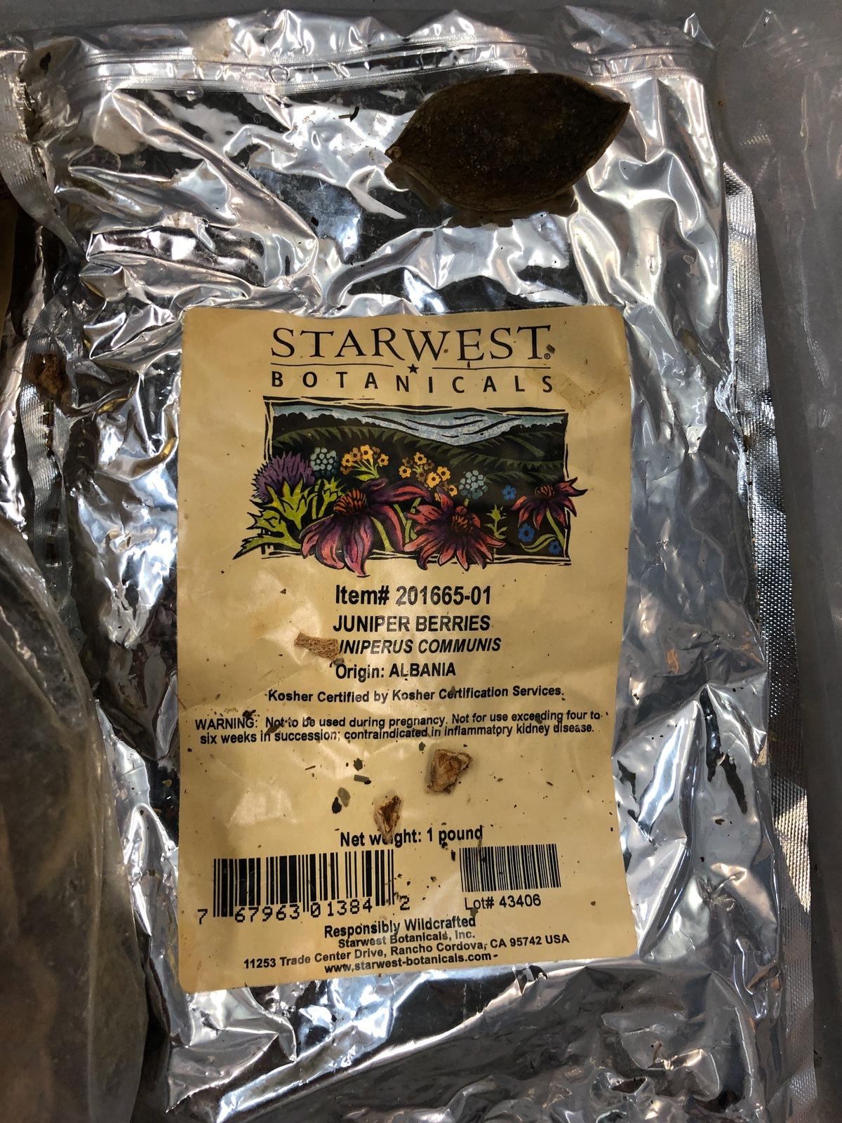 Lot of Herbs and Botanicals: Lemon Peel, Juniper Berries, Orange Peel, Orris Ro   Rig Fee: $20 or HC - Image 12 of 14