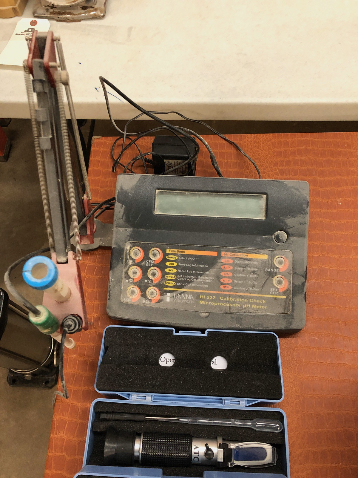 Lot 33 - Lot of Test Instruments, (2) PH Meter, (2) ATC Portable Refractom | Sub to Bulk | Rig Fee: $30 or HC