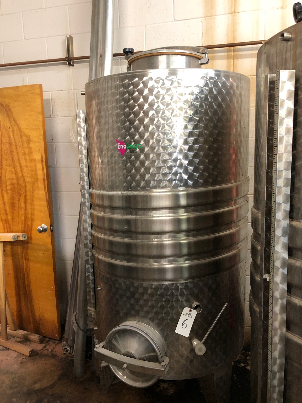 Lot 6 - 2008 EnoToscana Single Wall Tank, Cooling Jacket Section, Top and Sid | Sub to Bulk | Rig Fee: $250