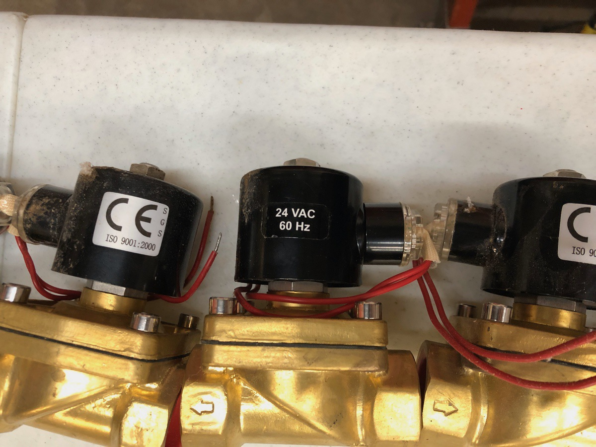 Lot 38 - Lot of (6) Solenoid Valves, 24v DC   Sub to Bulk   Rig Fee: $30 or HC