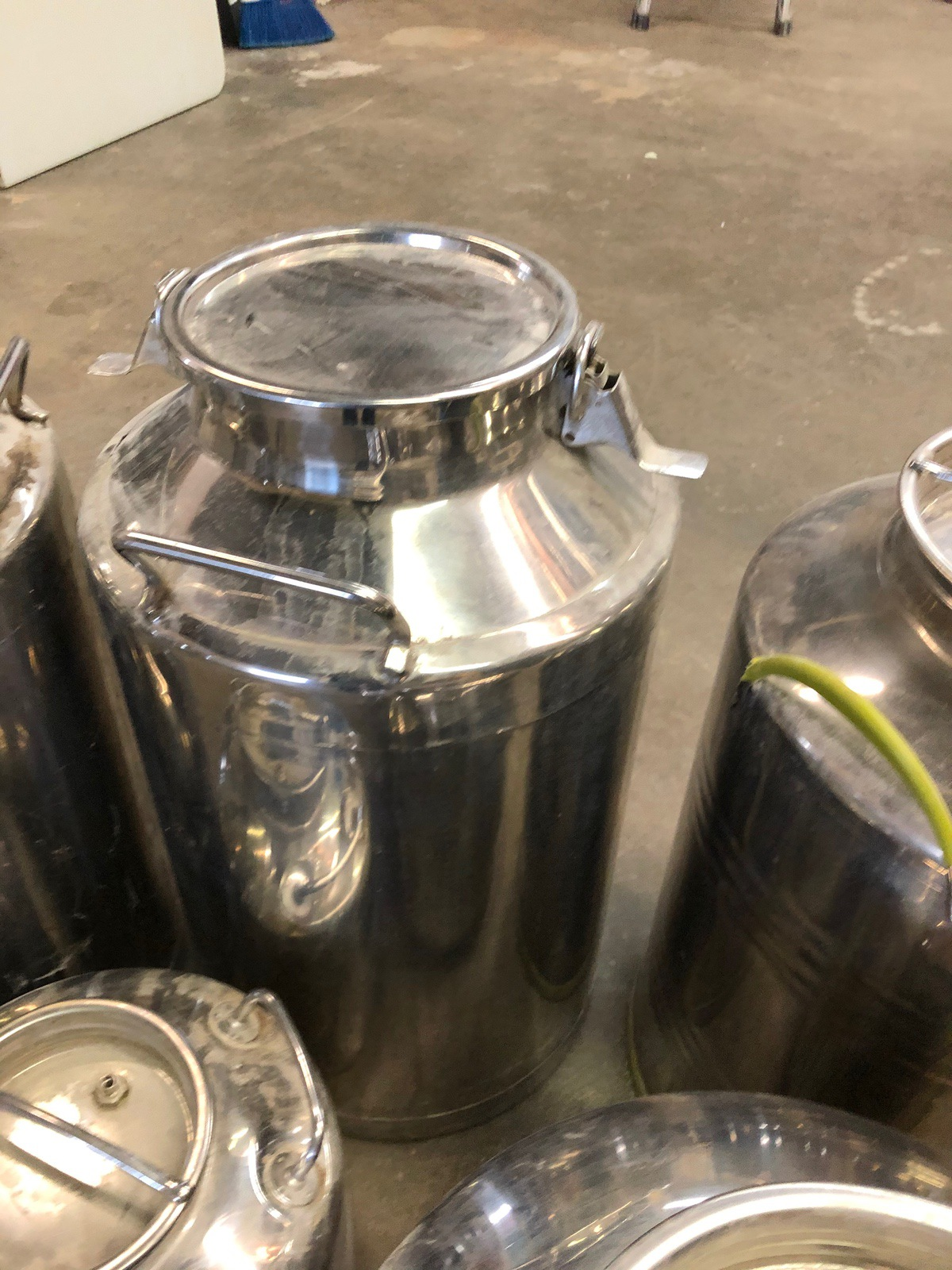 Lot 26 - (5) Stainless Steel Fusti Cans | Sub to Bulk | Rig Fee: $25 or HC