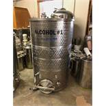 260 Gallon Stainless Steel Holding Tank, Approx 38in OD x 61in OAH | Sub to Bulk | Rig Fee: $150