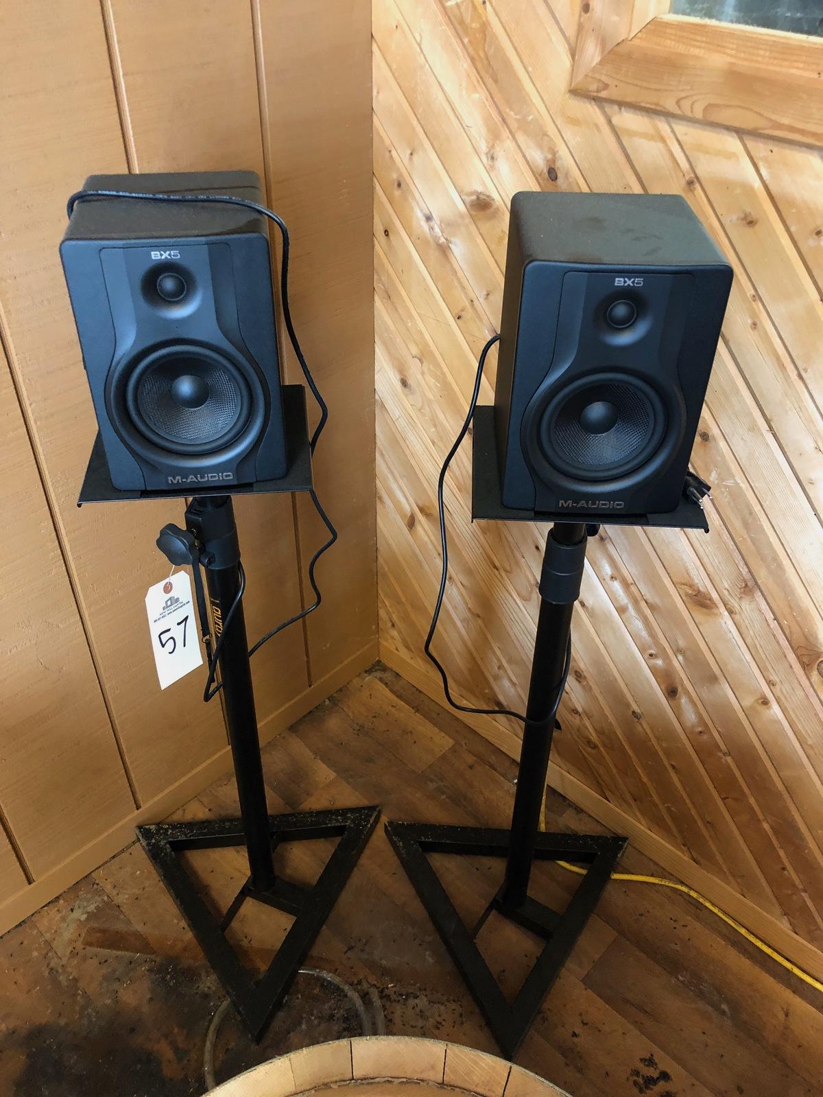 Lot 57 - (2) M-Audio Speakers   Rig Fee: $50 or HC